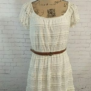 TRIXXI Ivory lace midi dress